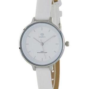 Reloj Marea de mujer correa piel esfera color blanco