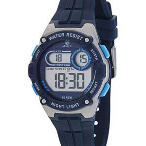 Reloj Marea digital cadete caucho azul