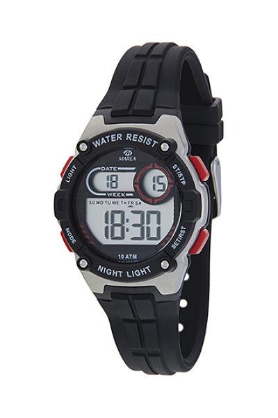 Reloj Marea digital cadete caucho negro