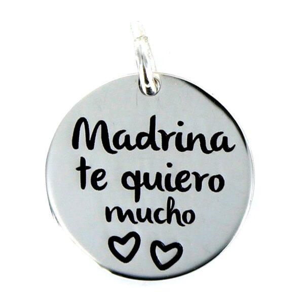 Colgante plata My life Madrina