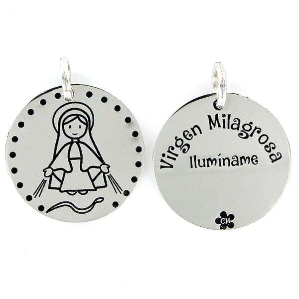 Colgante plata My life Virgen Milagrosa