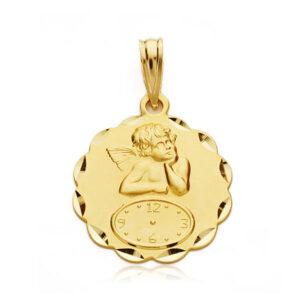Medalla oro 18k ángel ondas