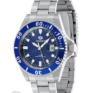 Reloj Marea caballero acero calendario esfera azul