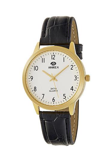 Reloj Marea clásico correa piel chapado