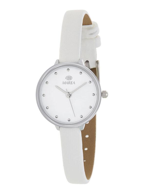 Reloj Marea mujer correa piel fina blanco