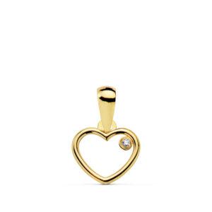 Colgante corazón oro amarillo