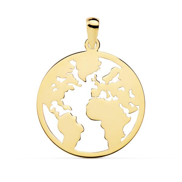 Colgante oro bola del mundo