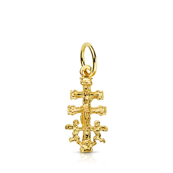 Colgante Cruz Caravaca de oro