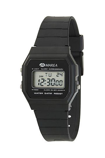 Reloj Marea digital octogonal negro
