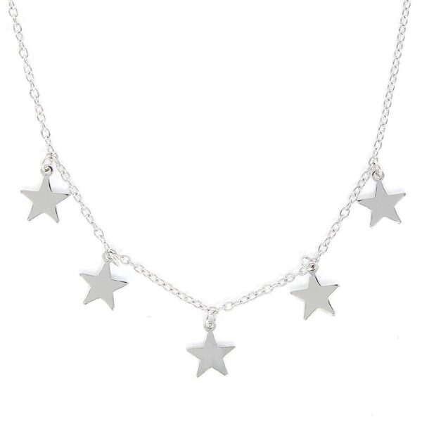 Gargantilla plata de ley estrellas