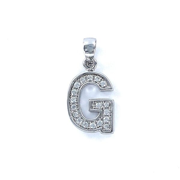 Colgante plata de ley inicial circonitas g