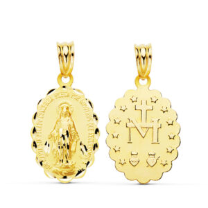 Medalla oro 18k Virgen Milagrosa