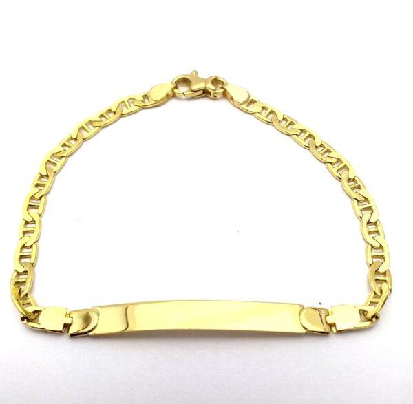 Pulsera de oro de 18k esclava ancla