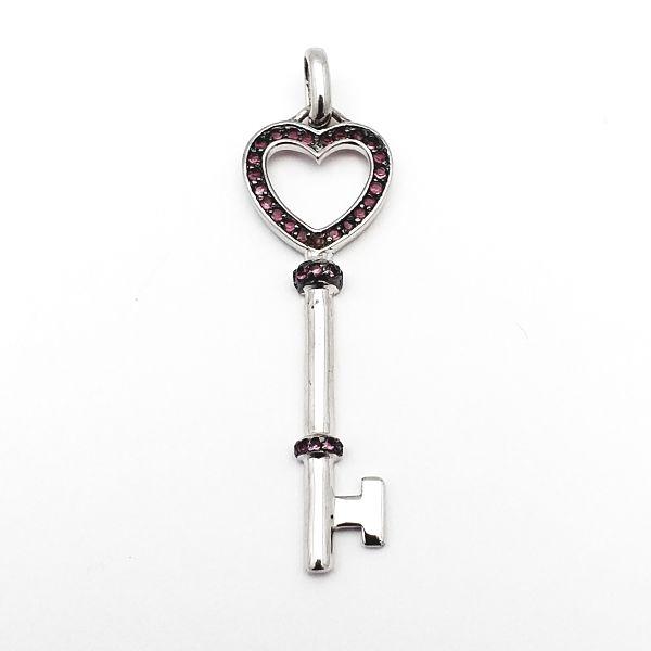 Colgante plata de ley llave del amor
