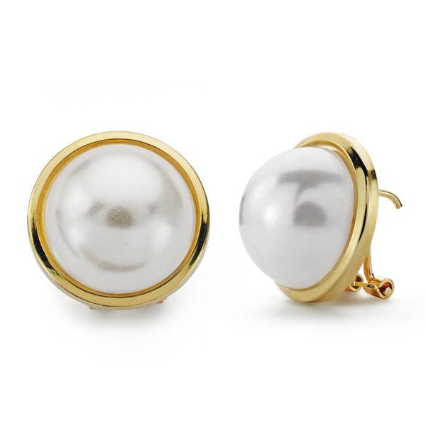 Pendientes oro de 18k perla japonesa cerco oro
