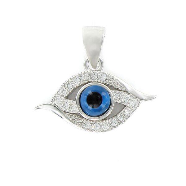 Colgante plata de ley ojo turco