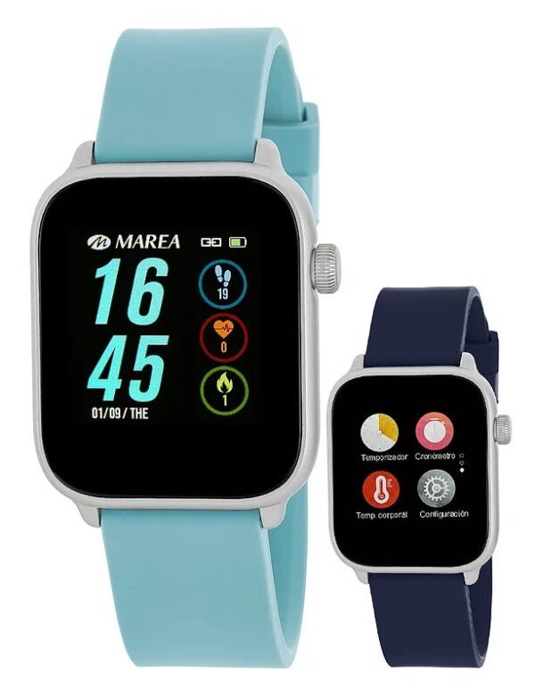 Reloj Marea Smart Watch temperatura azul