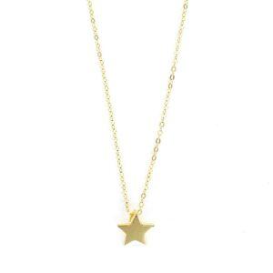 Colgante estrella plata chapada con cadena