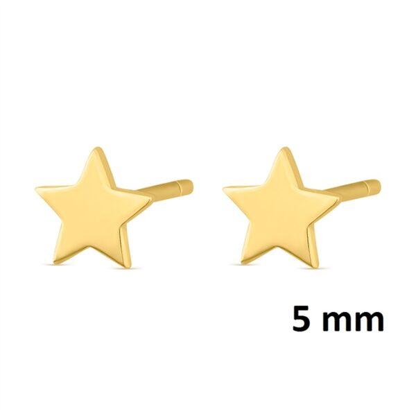 Pendientes mini estrella plata chapada en oro 345