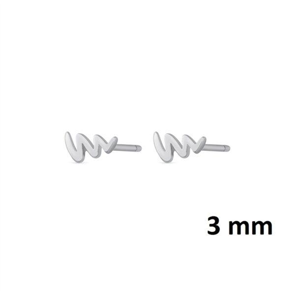 Pendientes mini latido plata de ley colección 345-3536