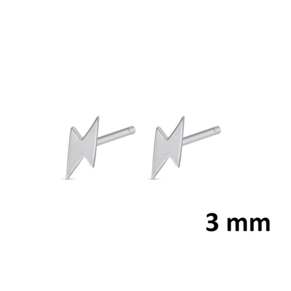 Pendientes mini rayo plata de ley colección 345