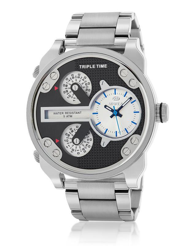 Reloj Marea Hombre acero triple time