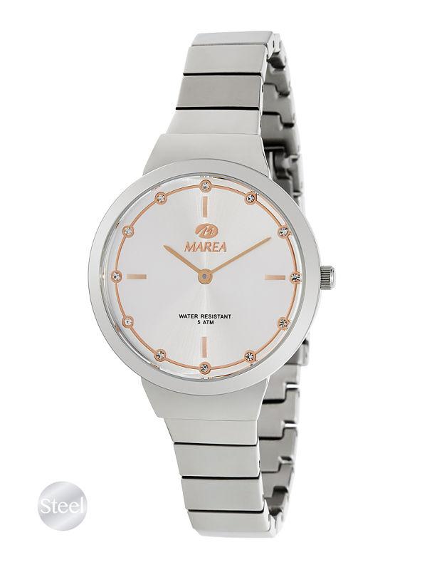 Reloj Marea mujer acero esfera gris perla
